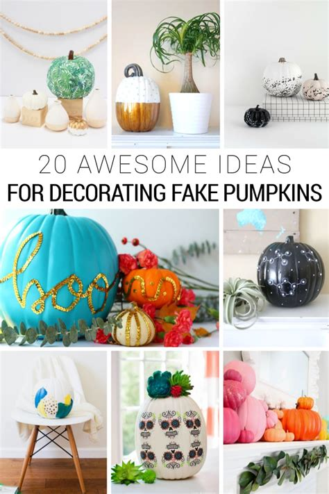 diy fake pumpkin decorating ideas  halloween  fall