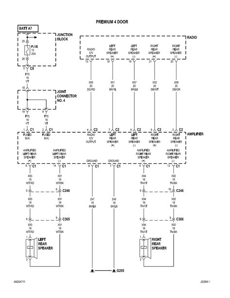 diagram 2003 dodge dakota radio wiring diagram