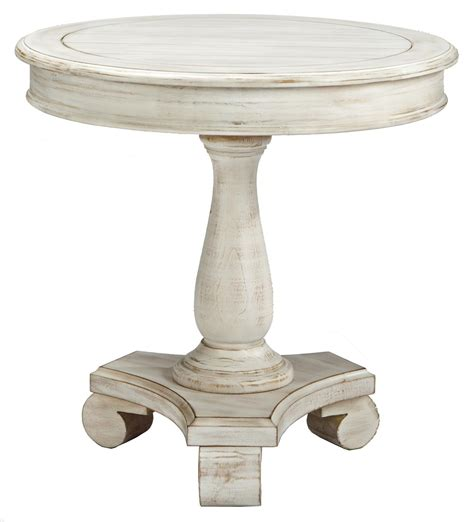 pedestal accent table accent table with turned pedestal base by signature