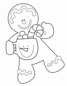 Free coloring pages of cute gingerbread house