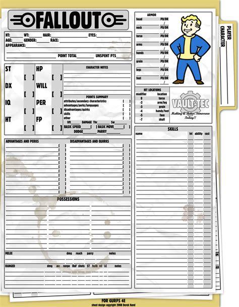 gurps fallout sheet by tensen01 blake s fallout party