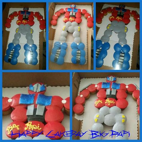 Transformer Cupcake Cake By @curshanacakes