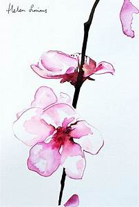 Watercolour orchid painting by Helen Simms #flower # ...