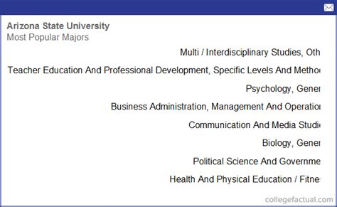 arizona state university tempe majors degree programs