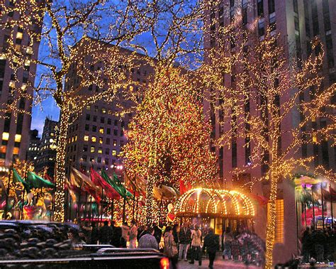 christmas and city lights rockefeller center 2006 1