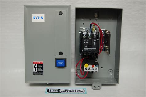 eaton magnetic motor starter 5 hp 230 volt three phase air