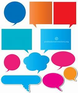 Color Speech Bubbles Vector Illustration   123Freevectors