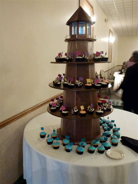 lighthouse cupcake tower      outdoor