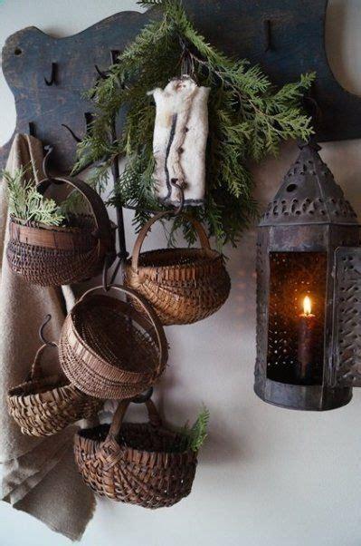 baskets country decor decor primitive christmas