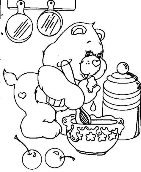dessin de cuisine à imprimer coloriage a imprimer bisounours cuisine gratuit et colorier