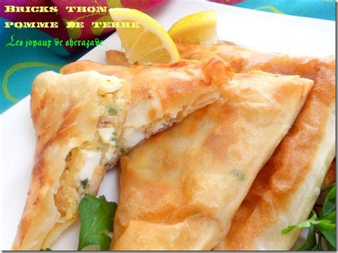 la cuisine de sherazade bricks au thon et pommes de terre les joyaux de sherazade