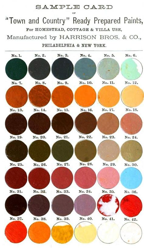 vintage country paint colors town and country paint colours 1872 swatches palettes country paint colors vintage
