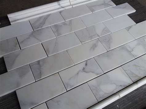 marble tile kitchen backsplash 3x6 quot polished calcatta marble tile tile