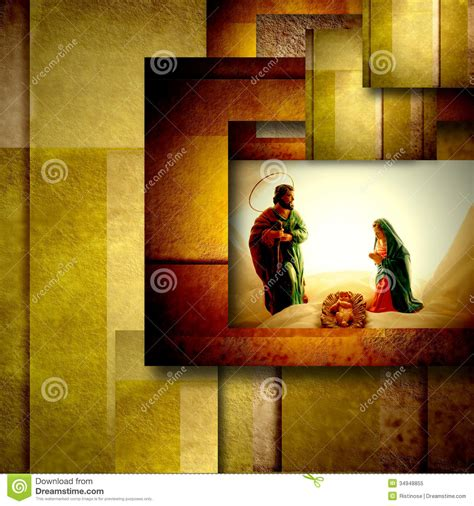 holy family christmas card royalty  stock photo