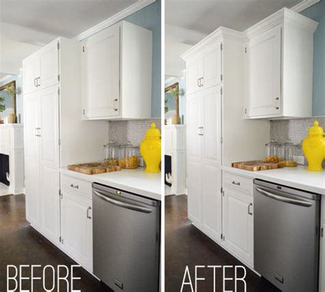 modern crown molding for kitchen cabinets how to add crown molding to the top of your cabinets