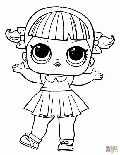 Lol Coloring Doll Pages Line Dancer Printable