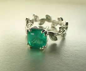 emerald engagement rings emerald leaf ring emerald engagement ring emerald cut