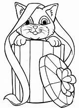Coloring Kitten sketch template