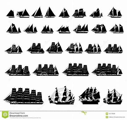 Types Sailboats Different Vector