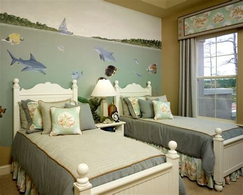 turn  bedroom   underwater themed space