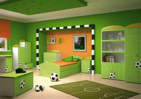 Kinderzimmer Farben Ideen Grün Fußball Thema
