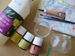 Ouvrir Un Pot De Peinture : photophore en peinture sur verre id es et conseils peinture multi supports ~ Medecine-chirurgie-esthetiques.com Avis de Voitures