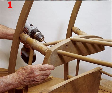 how to restore an wooden rocking chair