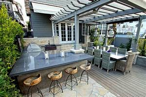 Wicker Counter Stools Deck Contemporary with Pergola