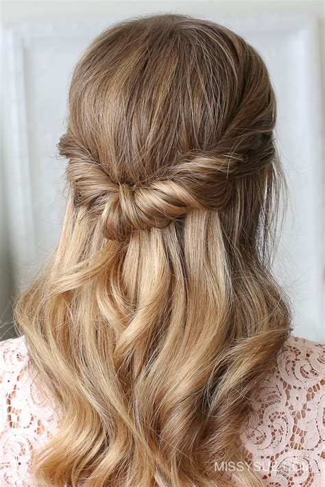Prom Hairstyles Half Updos looped half updo fsetyt