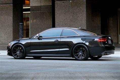 Black Audi A5 Black Rims