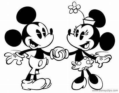 Mickey Minnie Mouse Holding Hands Coloring Pages