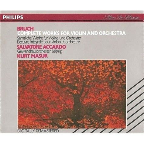 Max Bruch  Complete Works For Violin And Orchestra (masur