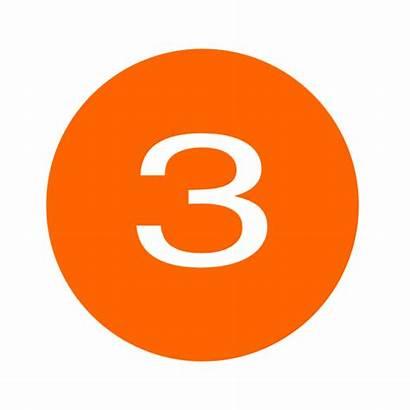 Number Three Clipart Orange Clip Vector Clker