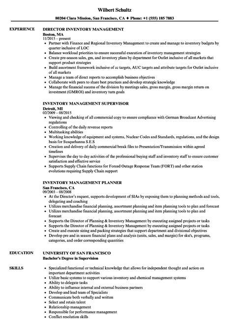Inventory Management Resume by Inventory Management Resume Sles Velvet
