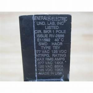 General Electric Tey-120 Circuit Breaker Tey120 - Used