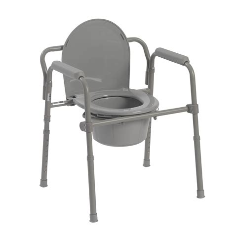 drive medical folding steel bedside commode 11148 1