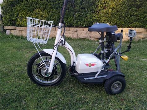 Modified Electric Trike Scooter W/ Gopro + Dslr Video