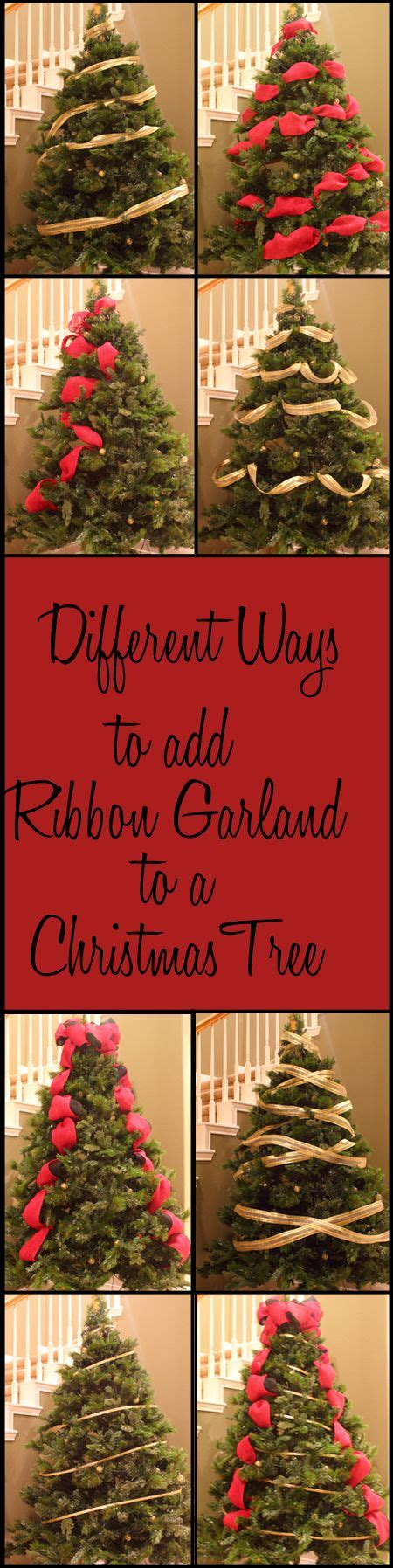 ways to decorate christmas tree different ways to add ribbon garland to a christmas tree 9009