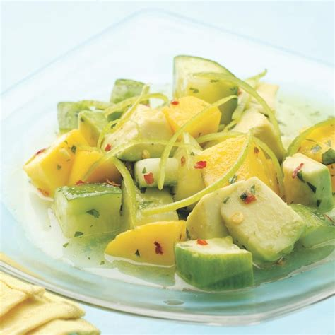 Lime Green Kitchen Ideas - tropical cucumber salad recipe eatingwell