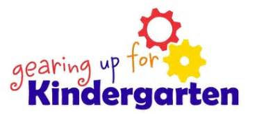 Gearing Up for Kindergarten Logo