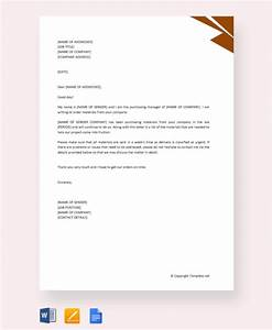 Example Of A Thank You Letter For An Interview Free 20 Sample Order Letter Templates In Pdf Ms Word