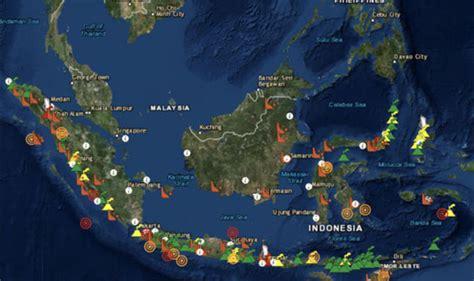 bali volcano map reveals indonesias huge volcano threat