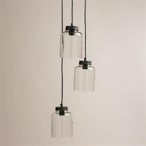 3 jar glass hanging pendant l world market