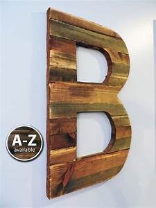 Large wood letters rustic letter cutout custom wooden for Large initial letters