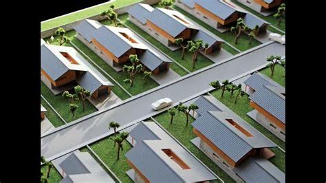 maquetas de arquitectura conjunto residencial y detalle de vivienda
