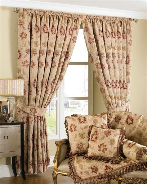 luxury curtains ready made pencil pleat matching