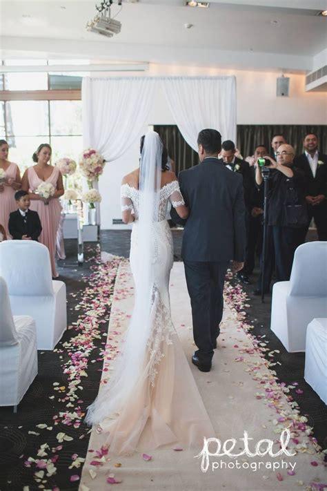 Indoor Wedding Ceremony At Dockside Laqua Terrace Room
