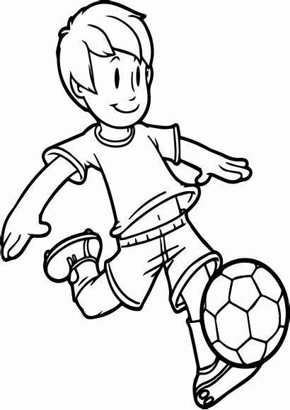 Playing Soccer Clipart Drawing Football Boy Cartoon