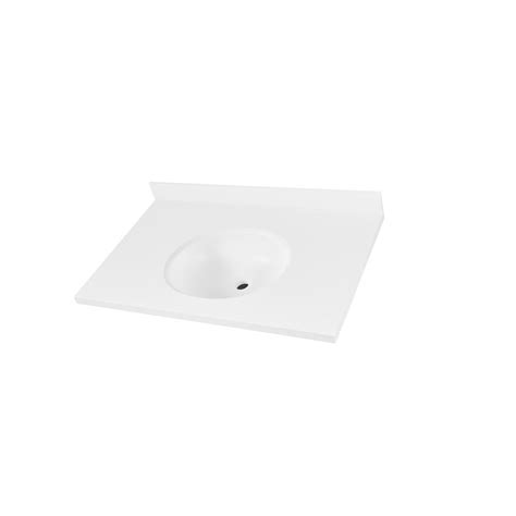 corian vanity corian 31 in w single basin vanity top in glacier white