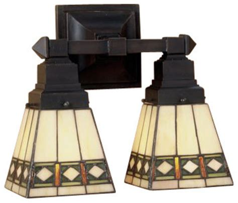 Stained Glass Bathroom Light Fixtures by Meyda 48192 Stained Glass 2 Light 12